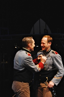 As Cassio in Othello (with Christopher Gerson as Iago)