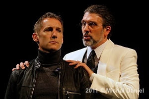 """Laertes in """"Hamlet"""" at The Jungle Theater with Bradley Greenwald as Claudius"""