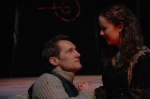 """As Edumd Mortimer (with Stephanie Lambourn) in """"Henry IV Part 1"""" directed by Paul Barnes"""