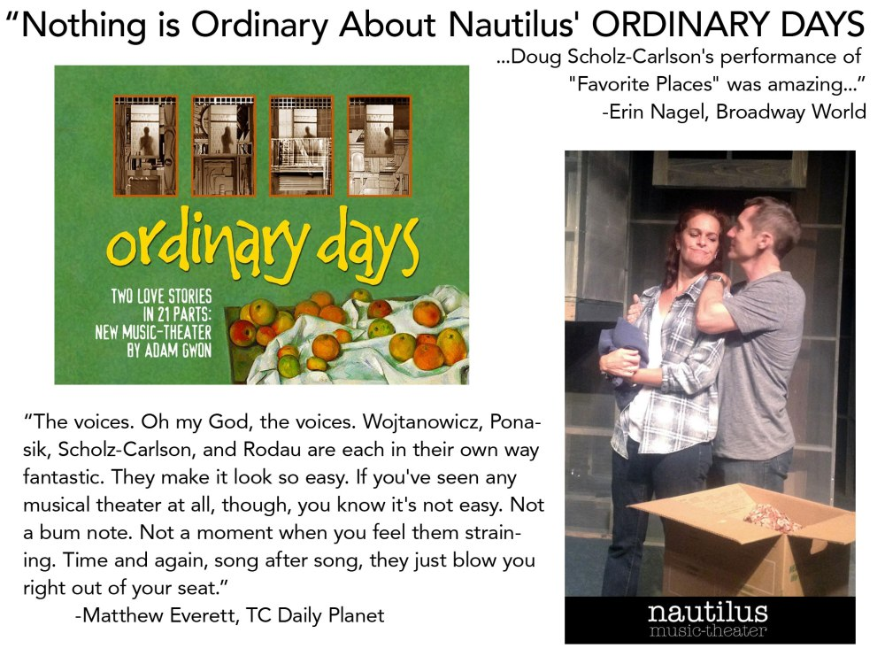 Kersen Rodau and Doug Scholz-Carlson in Ordinary Days